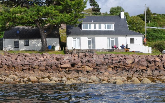 The house commands stunning views over the loch towards Shieldaig Island and, on clear days, the Western Isles can be seen.