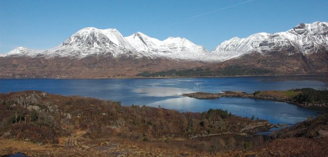 Whilst the scenery during the summer time is undoubtedly spectacular, it can be even more stunning during the colder months of the year. This photo shows a similar view of Beinn Alligin to the photo above but was taken in mid March.